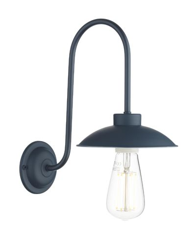 Dallas single wall light in smoke blue DAL0723 (7-10 day delivery)